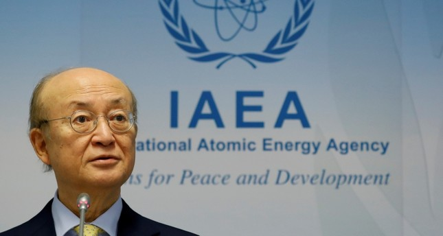 International Atomic Energy Agency (IAEA) Director General Yukiya Amano addresses a news conference during a board of governors meeting at the IAEA headquarters in Vienna, Austria March 4, 2019. (Reuters Photo)