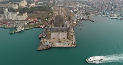 Restoration work completed on roof of historical Haydarpaşa Train Station