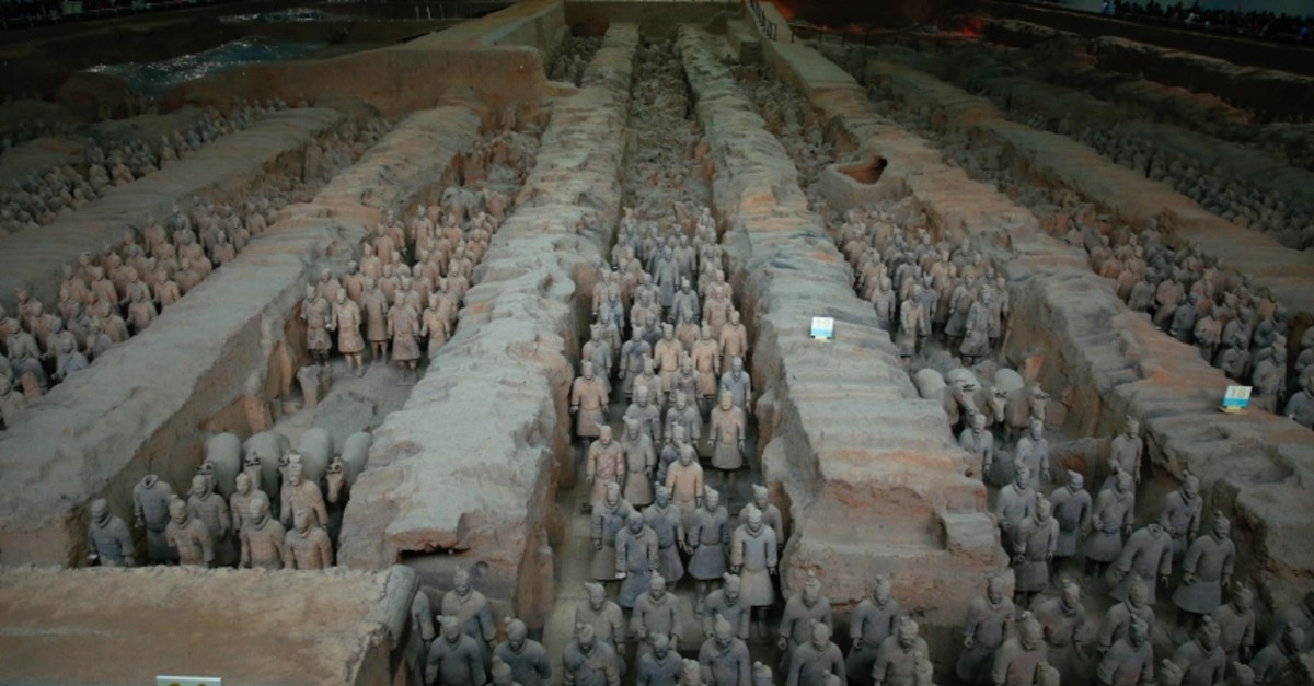 This photo taken on October 21, 2016 shows the sculptures of the Terracotta Army at the Terracotta Warrior Museum in Xian in north China's Shaanxi province. (AFP Photo)