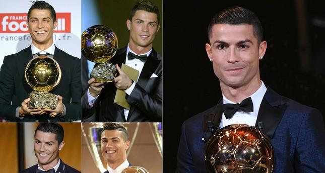 رونالدو يتوج للمرة الخامسة بجائزة الكرة الذهبية ويعادل رقم ميسي