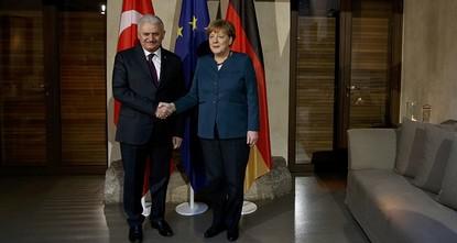 pPrime Minister Binali Yıldırım met Saturday German Chancellor Angela Merkel on the sidelines of 53. International Munich Security Conference./p  pThe breakfast meeting at the Bayerischer Hof...