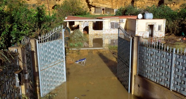 A view of the flooded house where nine people lost their lives in Casteldaccia, near Palermo, Italy, Sunday, Nov. 4, 2018. (Mike Palazzotto/ANSA via AP)