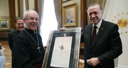 pPresident Recep Tayyip Erdoğan received Archbishop of Canterbury Justin Welby, the spiritual leader of the Church of England, yesterday at the Presidential Palace in Ankara./p  pThe...