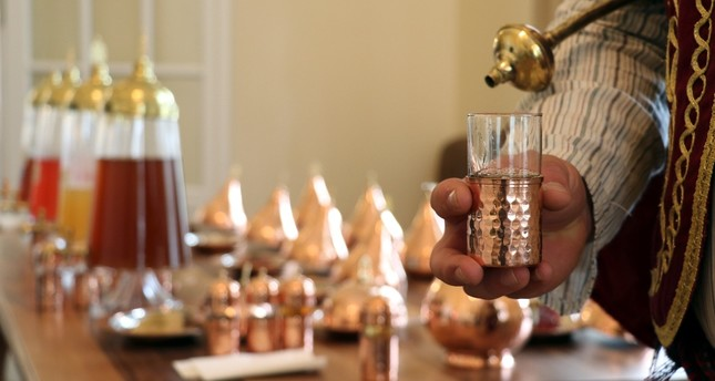 Sherbets are served in the traditional Ottoman way at the Sherbet House in Edirne.