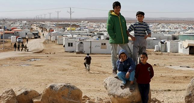 صورة من مخيم الزعتري للاجئين السوريين في الأردن  (رويترز)