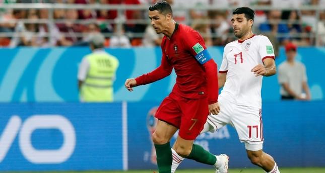 رونالدو يقود البرتغال لثمن نهائي المونديال بعد التعادل مع إيران