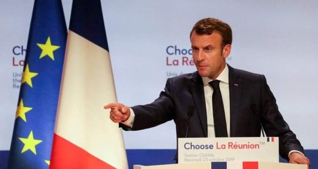 French President Emmanuel Macron gives a speech during the Choose La Reunion summit in Saint-Denis de la Reunion on October 23, 2019 AFP Photo