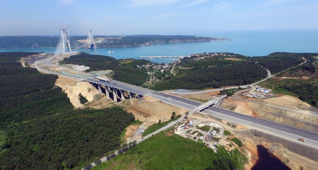 Istanbul's 3rd bridge and access roads to open in late August