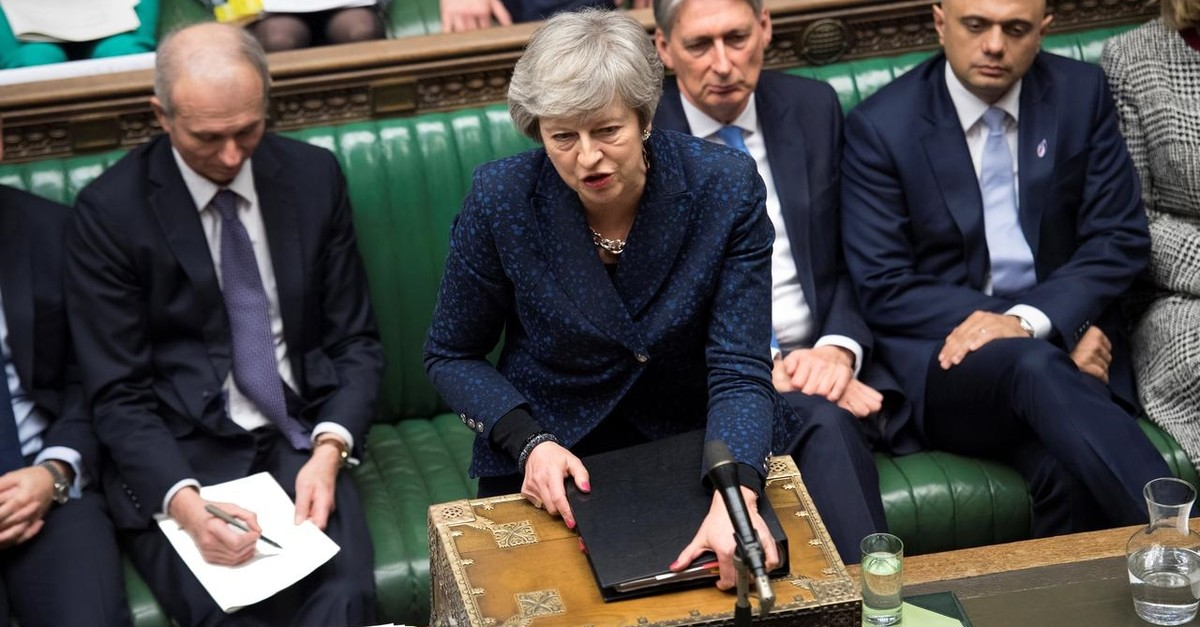 Britain's Prime Minister Theresa May speaks during a session at the Parliament, in London, Britain, January 23, 2019. (Reuters Photo)