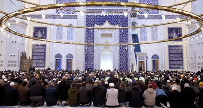 First prayer held at Turkey's largest mosque in Istanbul