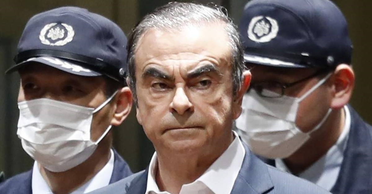 In this April  25, 2019, file photo, former Nissan Chairman Carlos Ghosn leaves Tokyo's Detention Center for bail in Tokyo. (AP, File)
