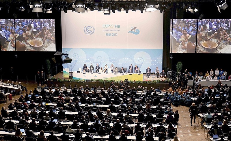 General view shows the opening session of the COP23 United Nations Climate Change Conference on November 6, 2017 in Bonn, western Germany. (AFP Photo)