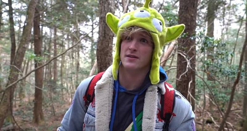Screenshot from Logan Paul's now-removed YouTube video.