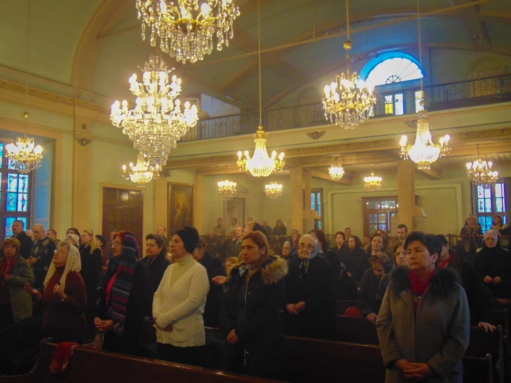 Armenian Turks at a mass in the Gedikpau015fa Armenian Church in the Fatih district of Istanbul on March 19.