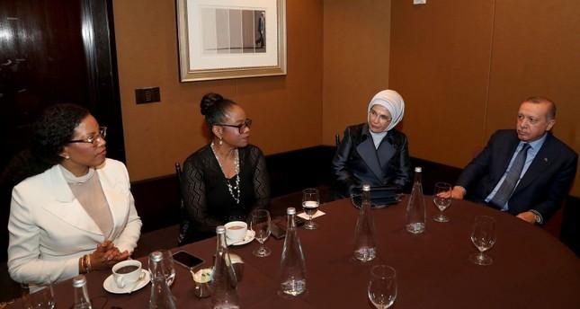 أردوغان يستقبل ابنتي مالكوم إكس في نيويورك