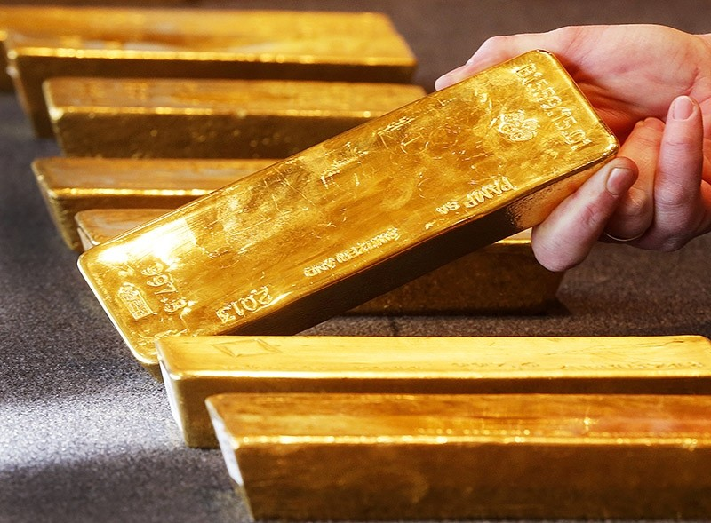 Various gold bars, are displayed in the German central bank's headquarters in Frankfurt, Germany, Thursday, Feb. 9, 2017. (AP Photo)