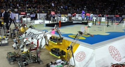 Robot contest brings students together