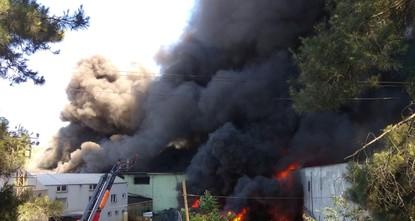 На фабрике в Стамбуле произошёл пожар