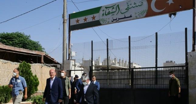 وزير الداخلية التركي يزور عفرين وأعزاز بشمالي سوريا