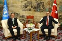 President Erdoğan informs UN chief Ban on Turkey's Euphrates Shield operation