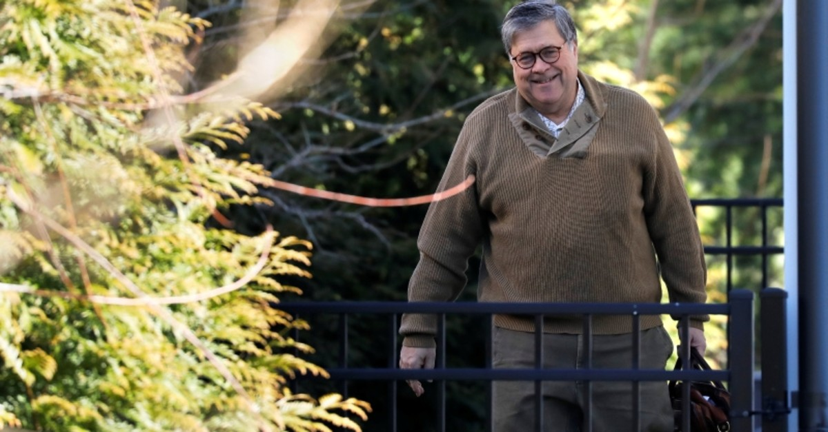 U.S. Attorney General William Barr leaves his house in McLean, Virginia, U.S, March 23, 2019. (Reuters Photo)