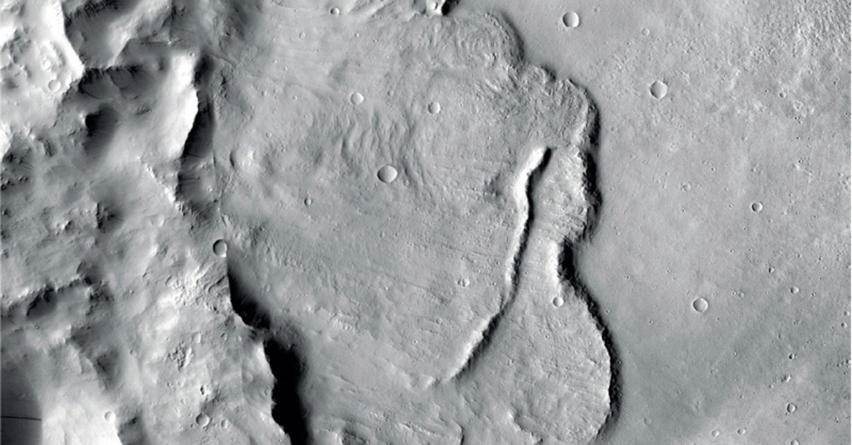 This undated photo provided by the European Space Agency, ESA, shows the surface of the Mars (AP Photo)