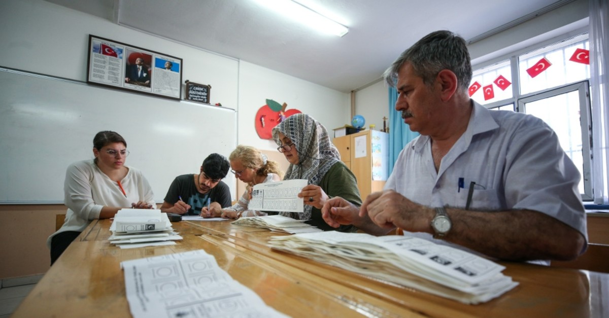 An official counts the votes cast in the Istanbul mayoral elections, June 23, 2019.