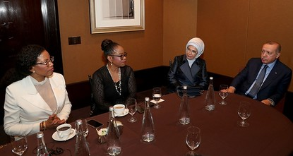 Erdoğan meets daughters of Malcolm X in New York