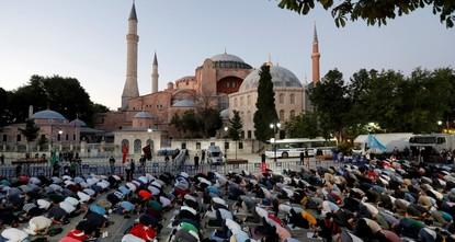 مقتطفات من كلمة رجب طيب أردوغان بمناسبة إعادة آيا صوفيا مسجداً جامعاً