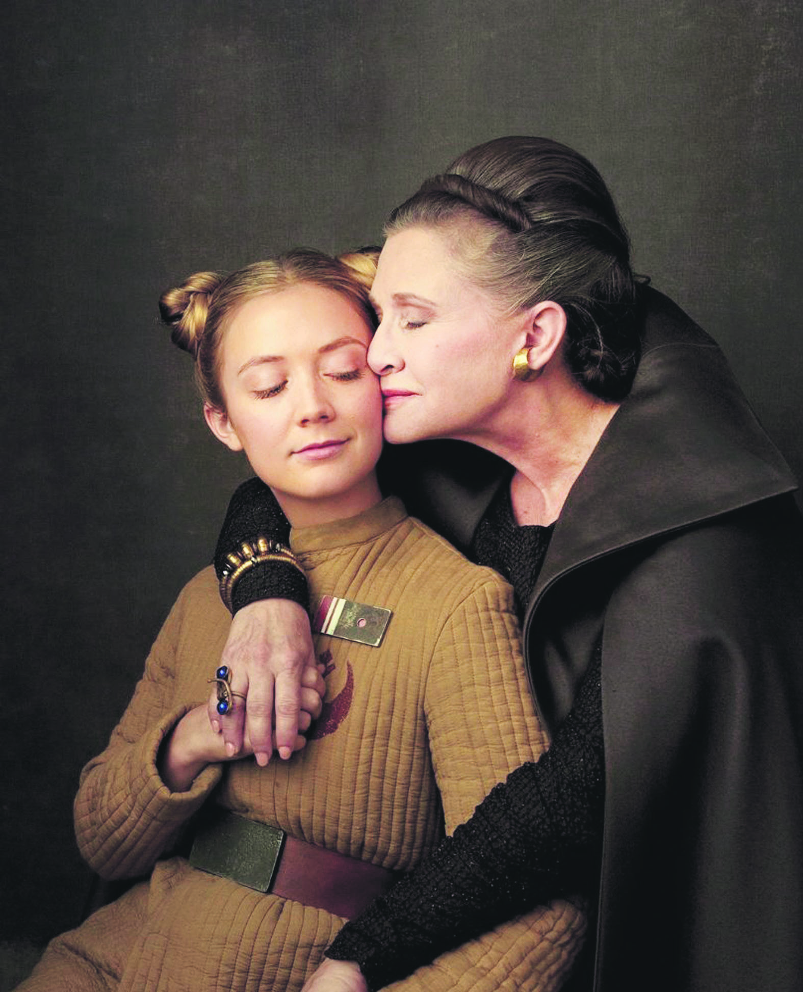 Carrie Fisher and Billie Lourd in u201cStar Wars: The Last Jedi.u201d
