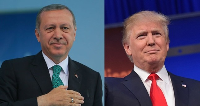 President Recep Tayyip Erdoğan (L) and his US counterpart-to-be Donald Trump