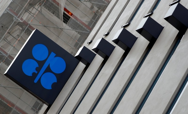 The logo of the Organization of the Petroleum Exporting Countries (OPEC) is seen outside their headquarters in Vienna, Austria December 7, 2018. (Reuters Photo)