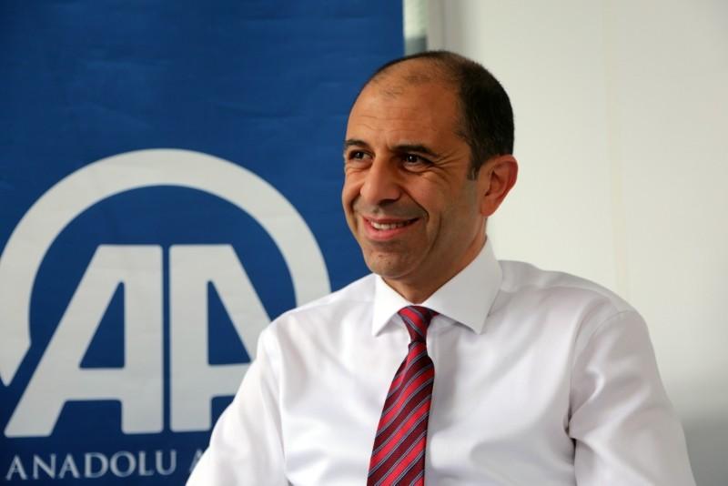 TRNC Foreign Minister Kudret u00d6zersay. (AA Photo)