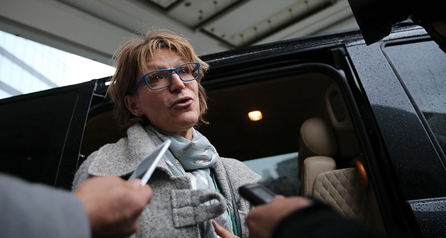 Agnes Callamard, UN special rapporteur on extrajudicial executions, leaves hotel where she stayed in Sisli district, to go Ataturk International Airport before her departure to Ankara on Jan, 31, 2019 in Istanbul, Turkey. (AA Photo)