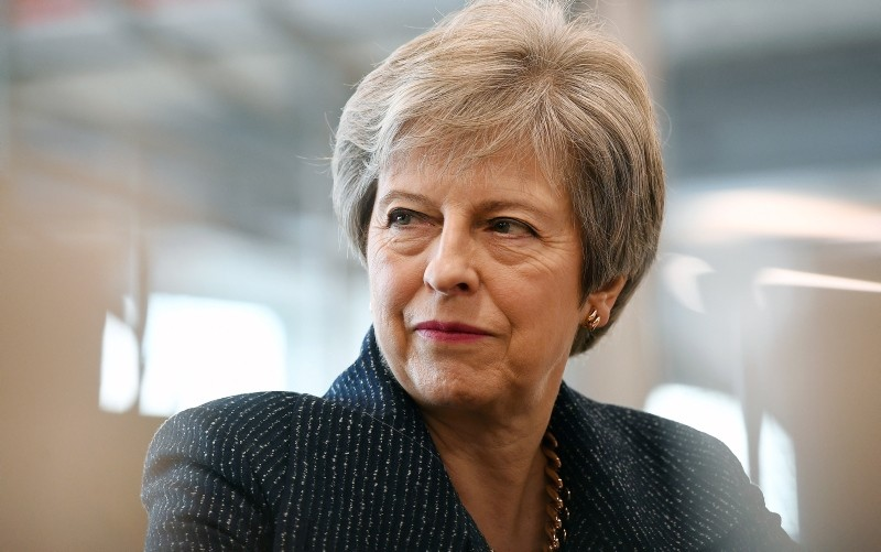 British Prime Minister Theresa May as she meets with business leaders in central London, Britain, 11 October 2018. (EPA Photo)