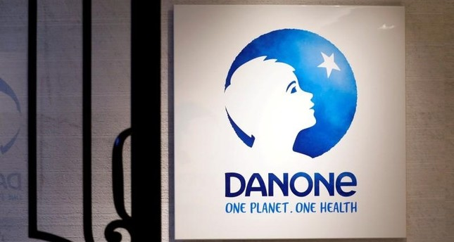 The logo of French food group Danone is seen at the company's headquarters in Paris, France, December 20, 2017. (REUTERS Photo)