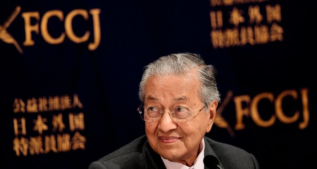 Malaysia's Prime Minister Mahathir Mohamad attends a press conference in Tokyo, May 30, 2019. (AFP Photo)