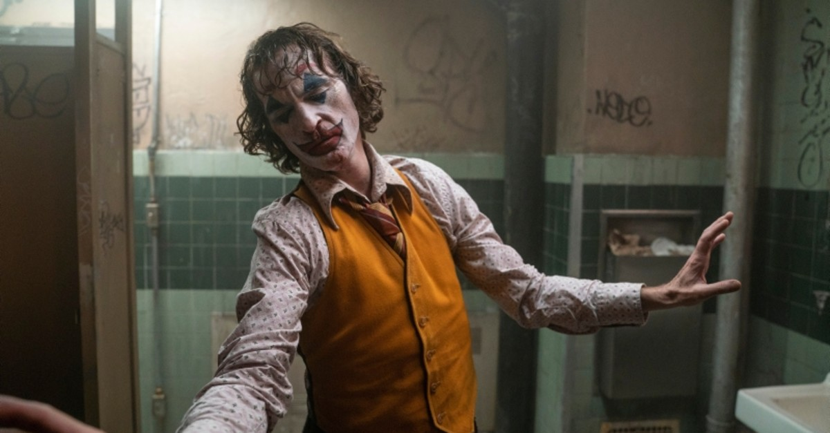 This image released by Warner Bros. Pictures shows Joaquin Phoenix in a scene from ,Joker., On Monday, Jan. 13, the film was nominated for an Oscar for best picture.