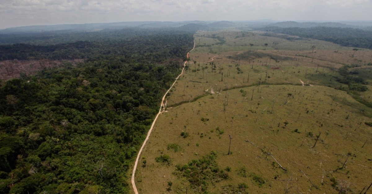 This Sept. 15, 2009 file photo shows a deforested area near Novo Progresso in Brazil's northern state of Para. (AP Photo)