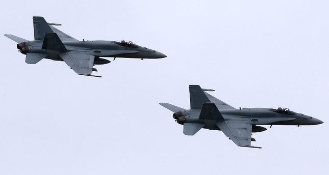 F-18 Hornet jet fighters. (EPA Photo)