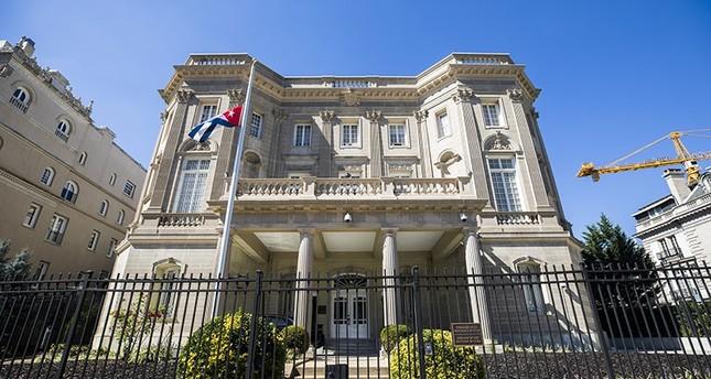 The Cuban Embassy on 16th Street in Washington, DC, USA, 03 October 2017. (EPA Photo)
