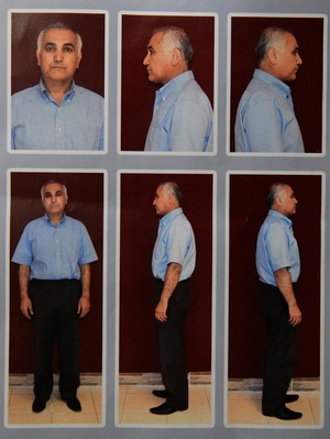Mugshots of Öksüz taken during detention in Ankara's Kazan district on July 16 before his release.