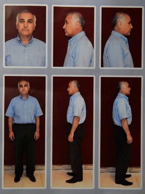 Mugshots of Öksüz taken during detention in Ankara's Kazan district on July 16 before his release.