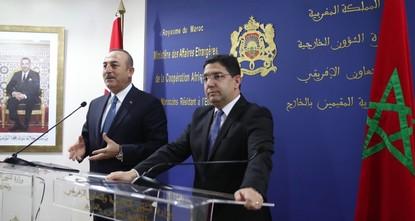 وزير خارجية المغرب: بحثت مع تشاوش أوغلو قضايا إقليمية وتطوير الشراكة