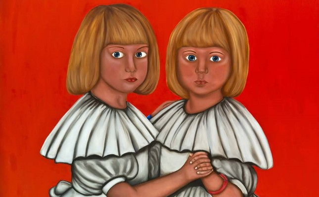 Emotional challenges in adolescence depicted in painting exhibition