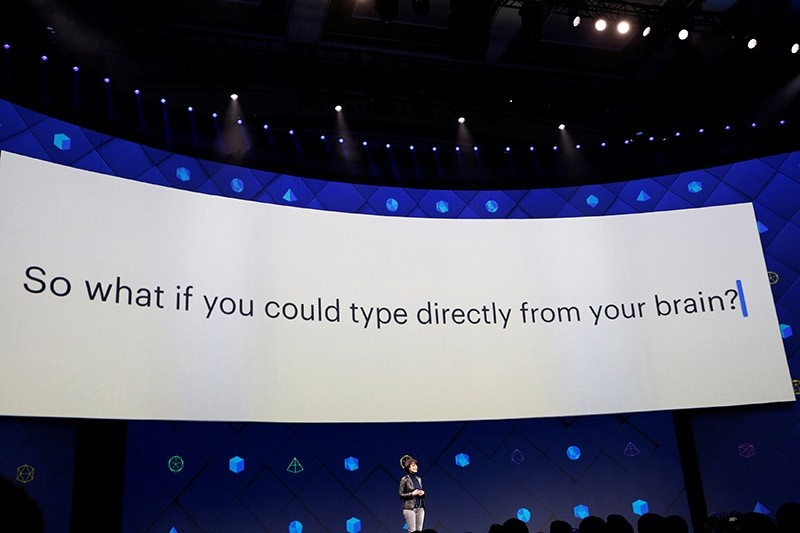 Regina Dugan, vice president of engineering of Building 8 at Facebook, speaks on stage during the second day of the annual Facebook F8 developers conference in San Jose, California, U.S., April 19, 2017. (Reuters Photo)