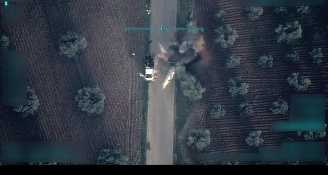 طائرة تركية بدون طيار ترصد لحظة مقتل رضيع وطفلين بألغام زرعها إرهابيو ب ي د بعفرين