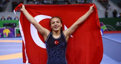 Turkish wrestler wins gold at European Youth Olympic Festival in Baku