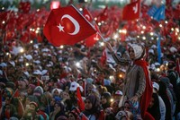 Istanbul's democracy rally as covered in US media