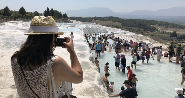 Pamukkale hosted 1.7 million tourists in the first eight months of this year, an increase of 25% compared to the same period last year.